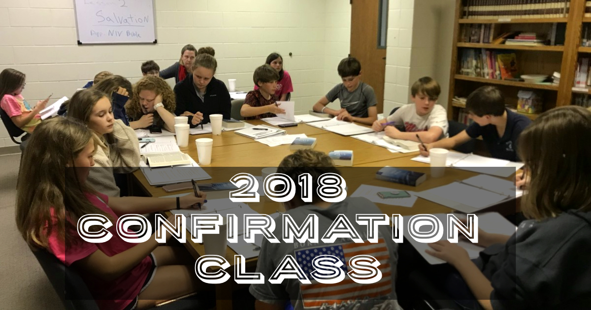 2018 confirmation class